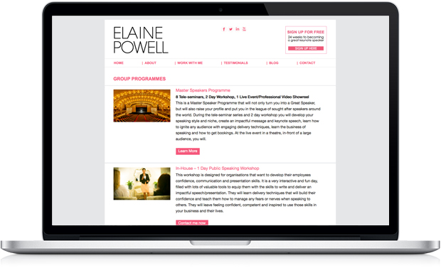 Elaine Powell - Group Programmes title=